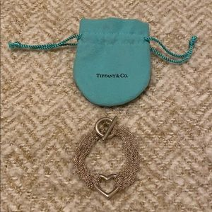 Tiffany Multi Strand Heart Toggle Bracelet